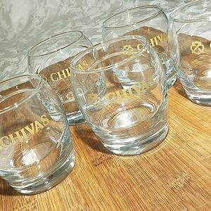 Set of 5 Chivas Whiskey Ball Glasses